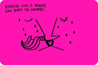 Beijar durante um minuto pode queimar 26 calorias.