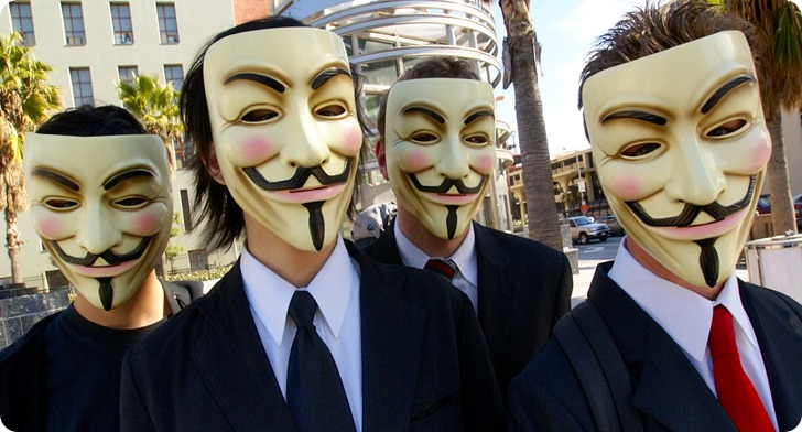 """We are Anonymous. We are Legion. We do not forgive. We do not forget. Expect us."""
